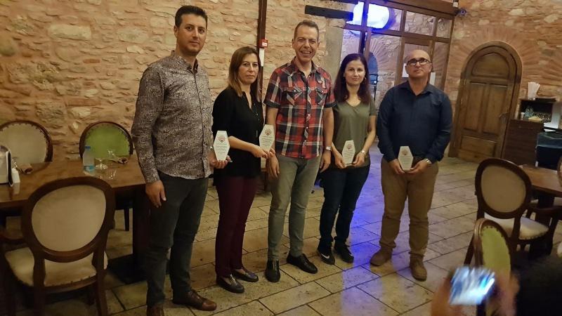 2018 Ekim Ayı - Zincirlihan Restaurant Veda Yemeği - Serap HEZER, Emeti KARA, Yüksel ÇELİK, Muammer KARAER
